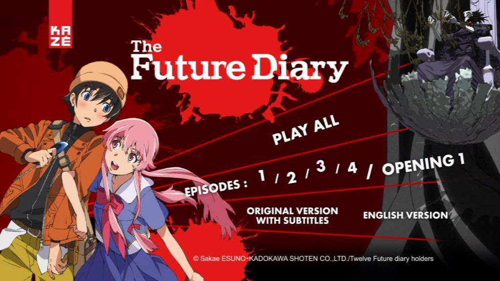 Mirai Nikki Future Diary Part1 Dvd Menu