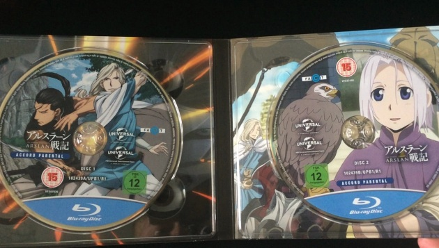 heroic-legend-of-arslan-series1-part1-bluray-unboxing-discs